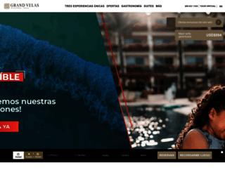 rivieramaya.grandvelas.com.mx screenshot