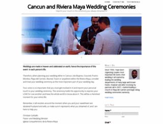 rivieramayaweddingminister.com screenshot