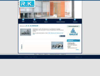 rkaluminium.com screenshot