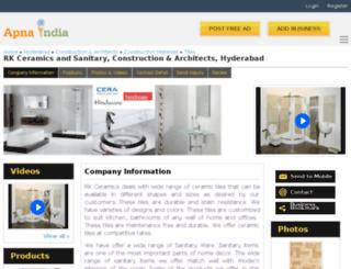 rkceramics-hyderabad.apnaindia.com screenshot