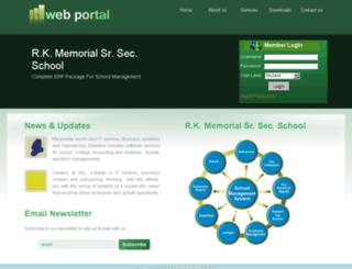 rkmsss.my-eschool.com screenshot