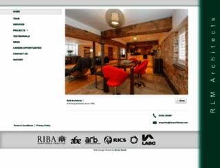 rlmarchitects.com screenshot