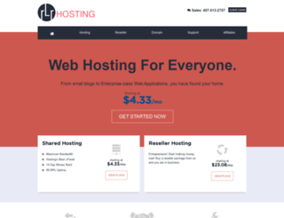 rlrhosting.com screenshot