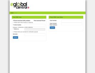 rma.eglobalcentral.com screenshot