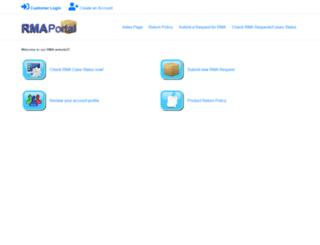 rma.rmaportal.com screenshot