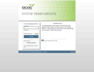 rmbookings.acac.com screenshot