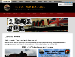 rmslusitania.info screenshot