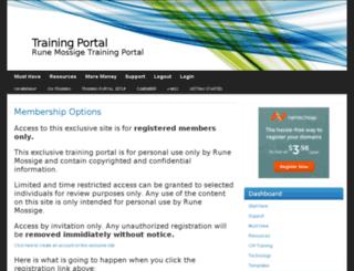 rmtrainingportal.runemossige.com screenshot