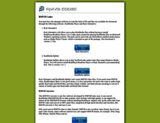 rmvbcodec.com screenshot