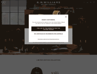 rmwilliams.com.au screenshot