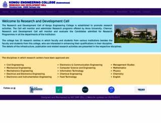 rnd.kongu.edu screenshot