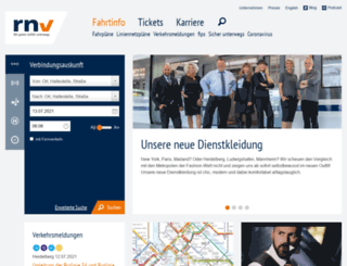 rnv-online.de screenshot