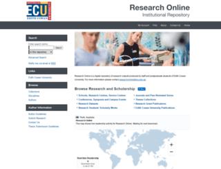 ro.ecu.edu.au screenshot