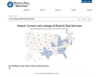 roadandrail.applicantpro.com screenshot