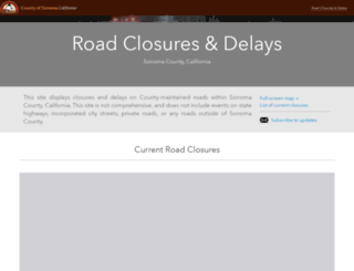 roadconditions.sonoma-county.org screenshot