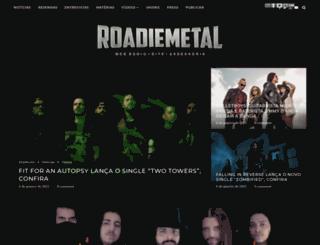 roadie-metal.com screenshot