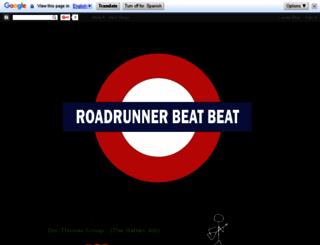 roadrunnerbeatbeat.blogspot.com screenshot