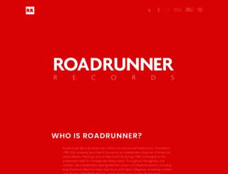 roadrunnerrecords.com screenshot