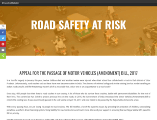 roadsafetyatrisk.in screenshot