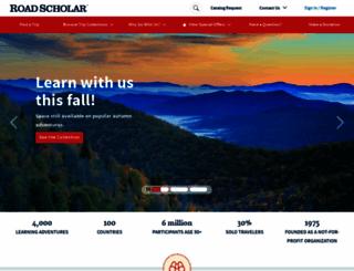 roadscholar.org screenshot