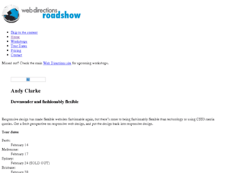 roadshow12.webdirections.org screenshot