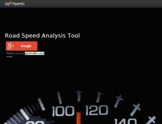 roadspeed.geotraffic.com screenshot
