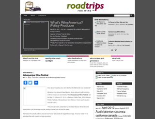roadtripsforwine.com screenshot