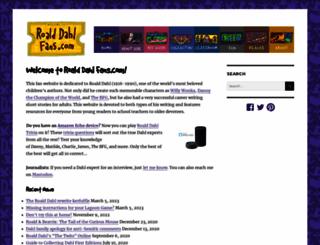 roalddahlfans.com screenshot