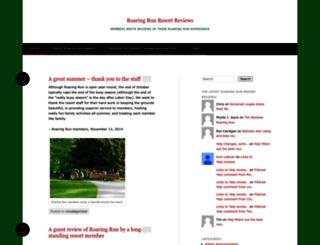 roaringrunresortreviews.wordpress.com screenshot