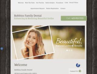 robbinsfamilydental.com screenshot
