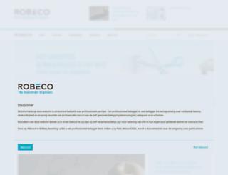 robeco.be screenshot