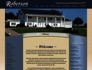 robersonfuneralhome.com screenshot