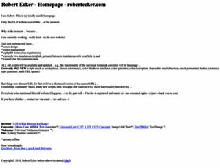 robertecker.com screenshot