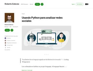 robertoesteves.com screenshot