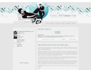 robertpattinsonfan.com screenshot