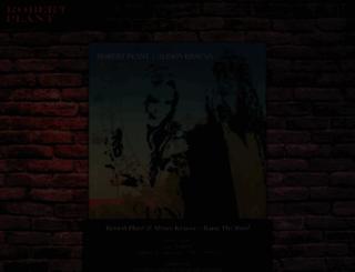 robertplant.com screenshot