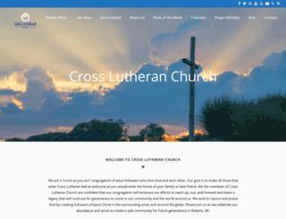 robertscrosslutheran.com screenshot