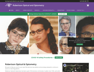 robertsonopt.com screenshot
