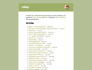 robey.lag.net screenshot