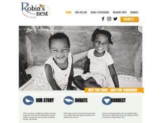 robinsnestchildrenshome.org screenshot