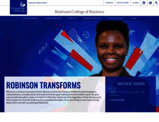 robinson.gsu.edu screenshot