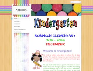 robinsonkindergarten.com screenshot