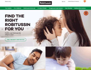 robitussin.com screenshot