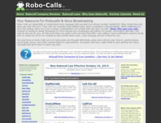 robo-calls.net screenshot
