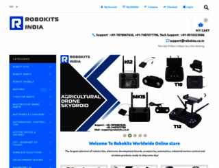 robokits.co.in screenshot
