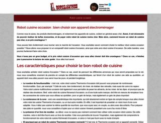 robot-cuisine-occasion.com screenshot
