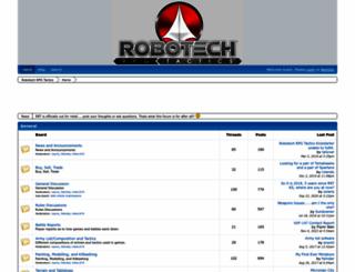 robotechrpgtactics.boards.net screenshot