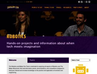 robotics.dragoncon.org screenshot