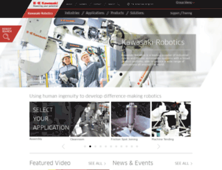 robotics.kawasaki.com screenshot