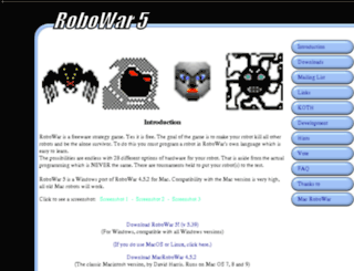 robowar.sourceforge.net screenshot